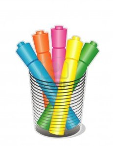 11170843-highlighter-pens-in-desk-organizer-for-home-business-back-to-school-projects